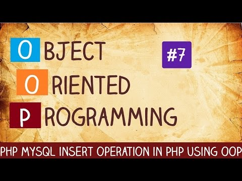 php mysql insert operation in PHP using OOP