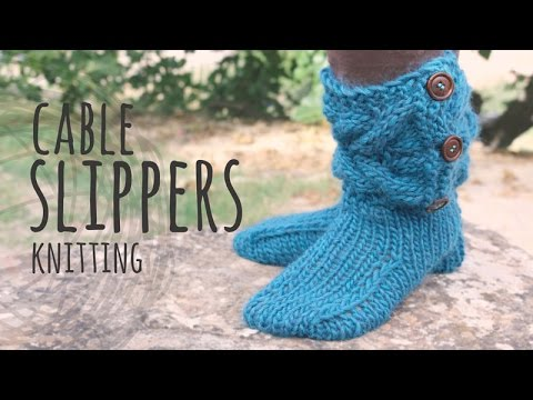 Tutorial Knitting Cable Slippers