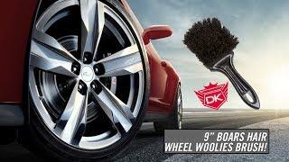 """9"""" Boars Hair Wheel Woolies Brush - Detail King"""