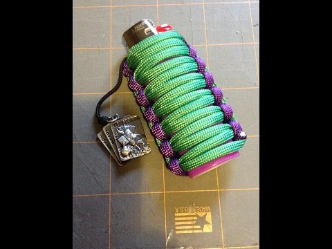 Making a paracord wrapped  Joker Bic lighter