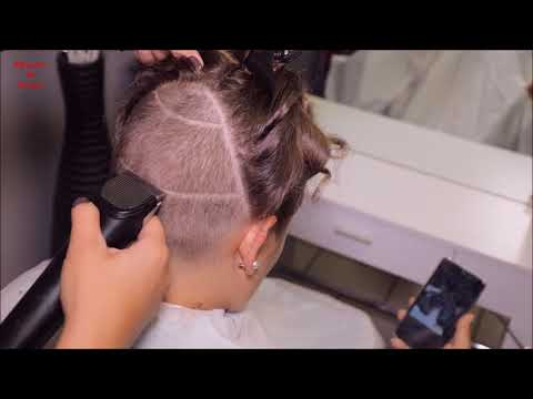 2017-36 Anastazie preview - long hair cut and shave to bob with undercut