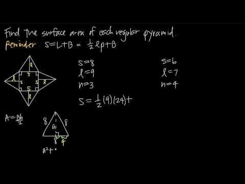 surface area of regular pyramids (KristaKingMath)