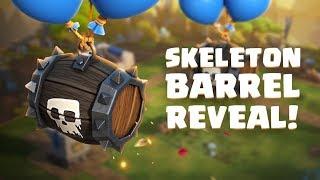 Clash Royale: SKELETON BARREL! (New Clash Royale Card)