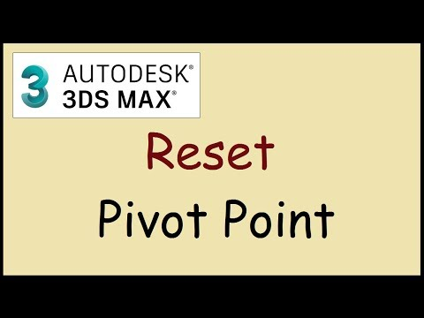 How to reset Pivot Point to center of object in 3DS Max