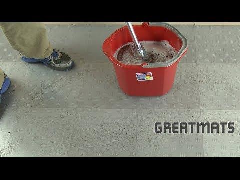 How to Clean Garage Floor Tiles - Snap Together Plastic Tiles - Greatmats