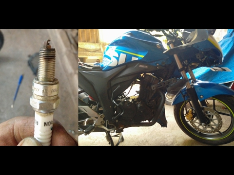 How to Clean Spark Plug So They Work Like New Of Gixxer 155 & SF ( Complete Guide )
