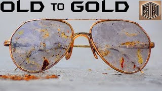 Vintage Italian Sun Glasses - GOLD PLATING Restoration
