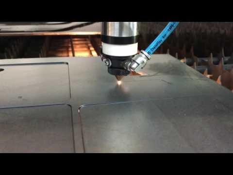Laser cutting 3/16