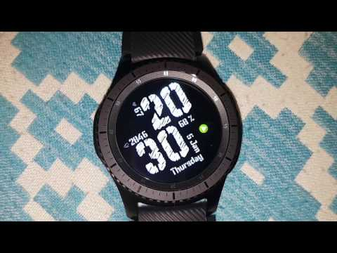 Big Bold digital watch face for Samsung Gear s3 and s2 smartwatch