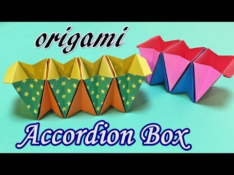 Awesome Origami Stuff | How to Make a Paper Accordion Box Easy but Cool for Beginners