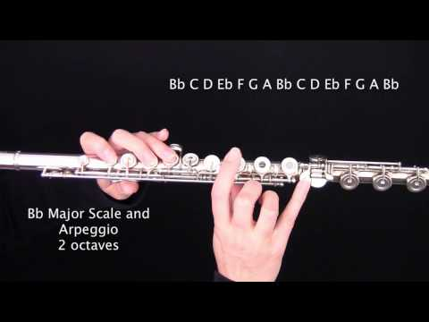 B flat (Bb) Major Scale and Arpeggio for FLUTE : Learn Flute Online Step by Step Tutorials