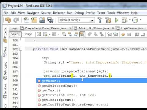 Java prog#14.How to Insert/Save data from netbeans java into database Sqlite (MySql)