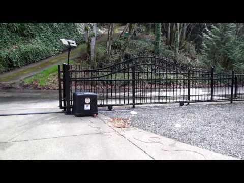 Solar Powered Sliding Gate