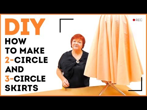 DIY: How to make a 2-circle and 3-circle skirts. Making a flamenco skirt. Sewing tutorial.