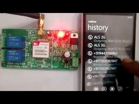 GSM BASED MOTOR CONTROL