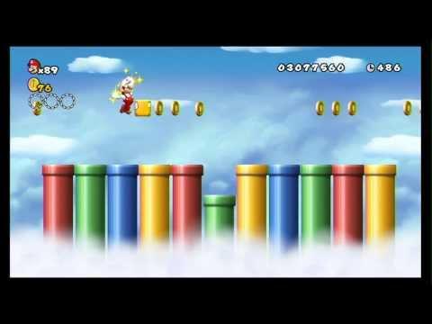 New Super Mario Bros. Wii 100% Walkthrough Part 14 - World 7 (7-T, 7-G, 7-4) All Star Coins