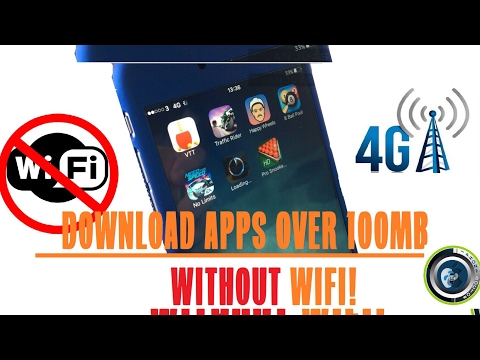 How to download over 100mb apps using cellular data on iPhone