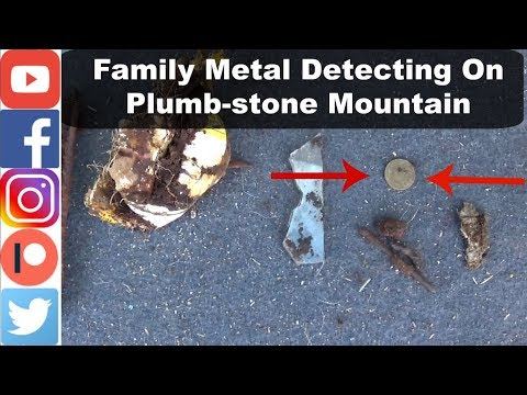 Family Metal Detecting On Plumb-stone Mountain | Old Coin Find
