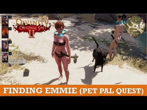 Finding Emmie (Pet Pal Quest on Fort Joy beach) (divinity original Sin 2)
