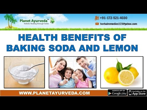 Health Benefits of Baking Soda and Lemon
