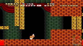 Super Mario Bros  3 SNES: World 8-Bowser's Castle + Ending