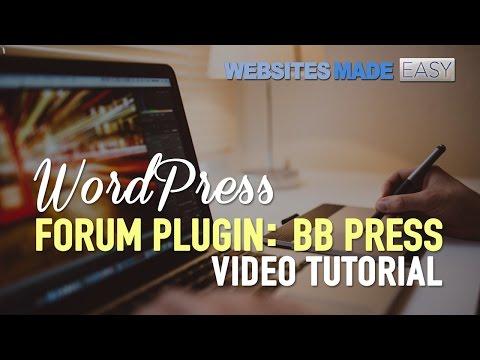 WordPress Forum Plugin - BB Press!