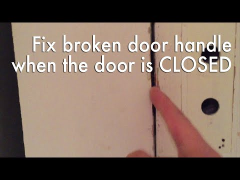 Open a door that is stuck CLOSED because the knob doesn't work!