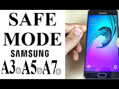 How to Easily Remove a Malware or Apps on Samsung Galaxy A3, A5, A7 (2016, 2017) (SAFE MODE)