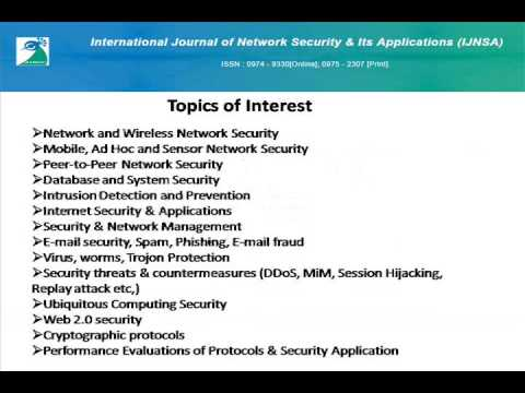International Journal of Network Security & Its Applications (IJNSA)