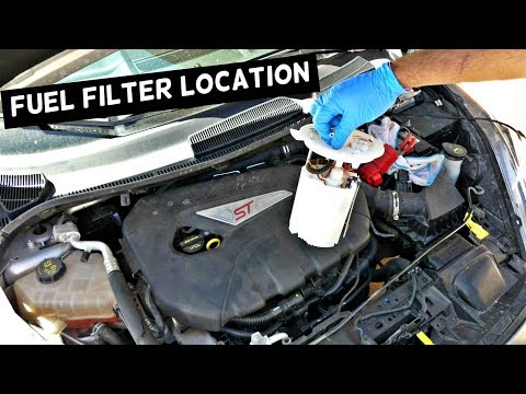 WHERE IS THE FUEL FILTER LOCATED ON FORD FIESTA ST OR FOCUS ST