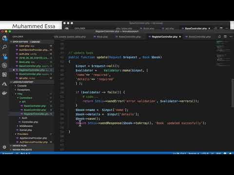 20   Laravel API with Passport and CRUD