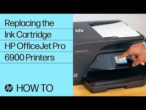 Replacing an Ink Cartridge in HP OfficeJet Pro 6900 Printers