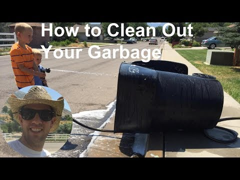 How to clean out your garbage can
