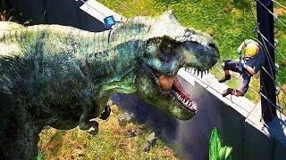 JURASSIC WORLD Evolution Game Trailer (Dino Theme Park Simulator - 2018)
