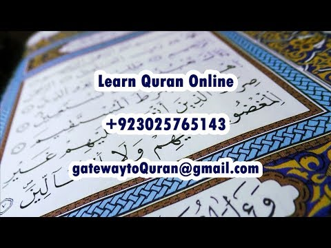 How to learn Quran Tajweed Salah online - Lesson with Fatmah Quran for kids