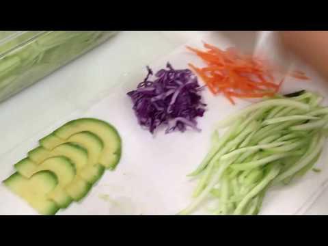 How to make Avocado 🥑 Salad 🥗 Roll