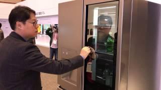 Watch LG's new Knock-On fridge with door-in-door