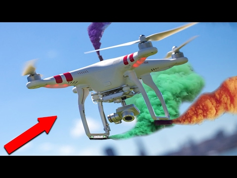 INSANE DRONE STUNTS WITH SMOKE GRENADES!