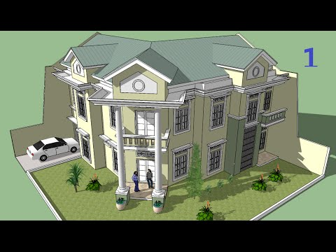 Sketchup tutorial Make a house building Part 1