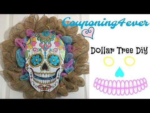 DOLLAR TREE DIY DIA DE LOS MUERTOS WREATH