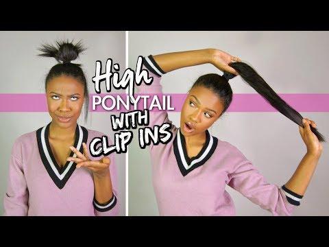 How To: High Ponytail with Clip In Extensions | COMFORTABLE/NO TRACKS SHOWING • ESTELLE'S SECRET
