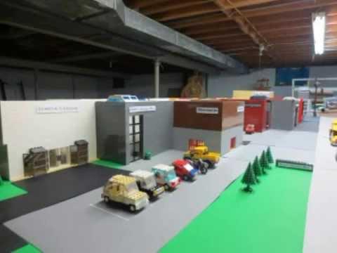 a huge lego mall (Sutter's Landing Mall)