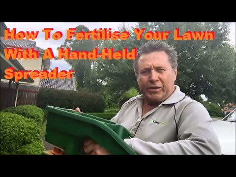 How To Fertilise Lawn With A Handheld Spreader - Spread Fertiliser Evenly and Calibrate Spreader
