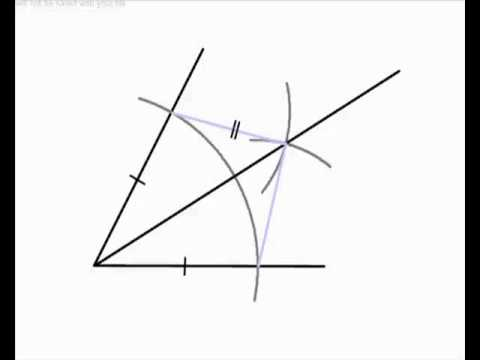 Angle Bisectors 1 - Bisecting an Angle with ruler and compasses only