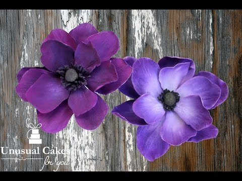 Anemone Sugar flower tutorial
