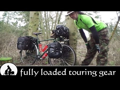 fully loaded bicycle touring equipment, gear & kit