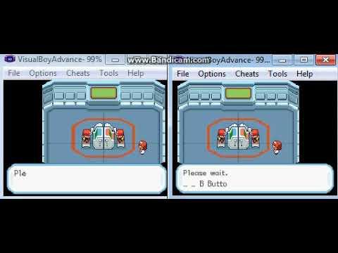 Pokemon Fire Red GBA Emulator trading to get Machamp