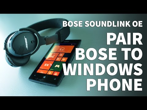 How to Pair Bose Soundlink OE Bluetooth Headphones to Windows Phone