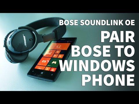 How to Pair Bose Soundlink OE Bluetooth Headphones to Windows Phone