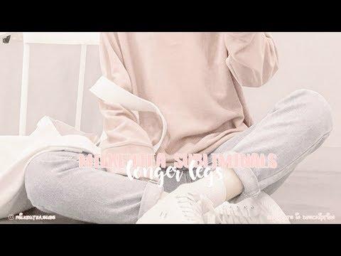 【 get slender thin, long legs ୨♡୧ subliminal 】